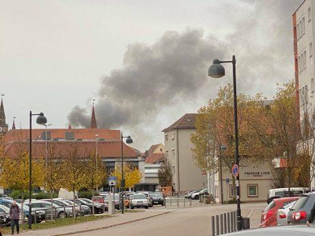 Explosion in einem Wohnhaus in Ansbach. Foto: Thomas Moser