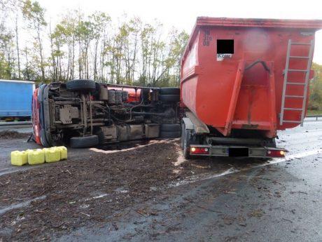 Unfall auf der A6. Foto: Verkehrspolizeiinspektion Ansbach
