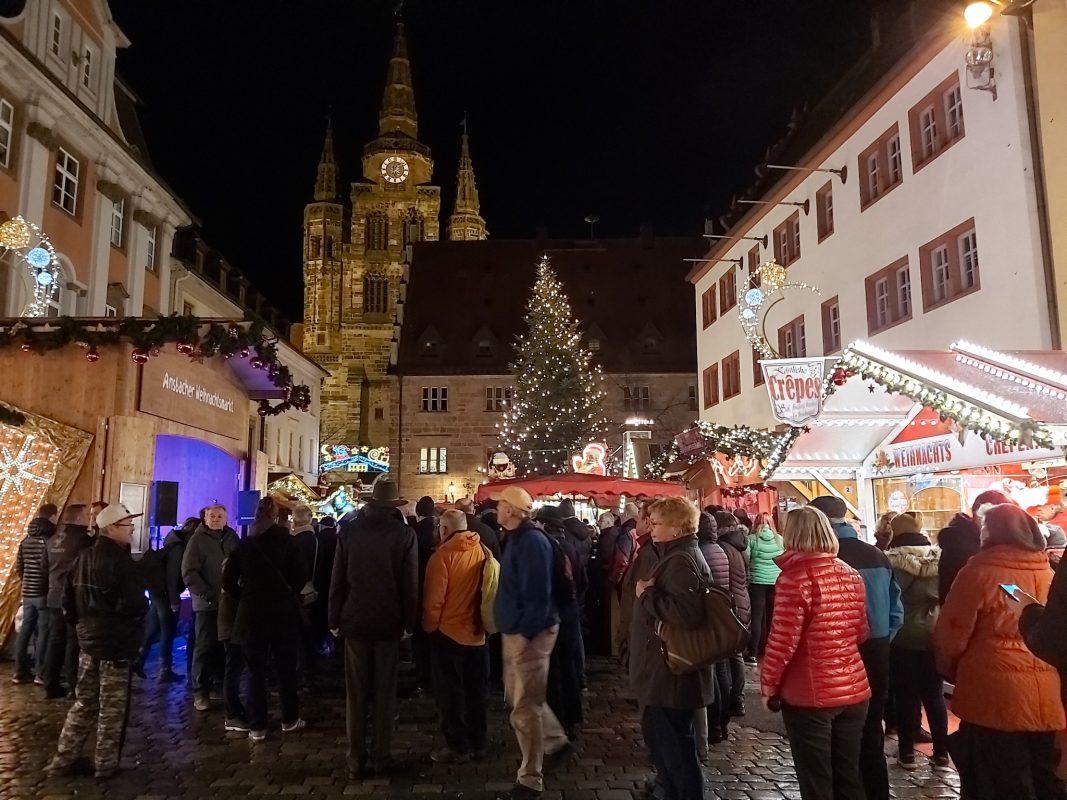 Der Ansbacher Weihnachtsmarkt 2019. Foto: Bettina Bocskai