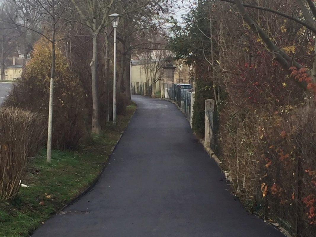 Der Fuß- und Radweg an der Residenzstraße. Foto: Stadt Ansbach