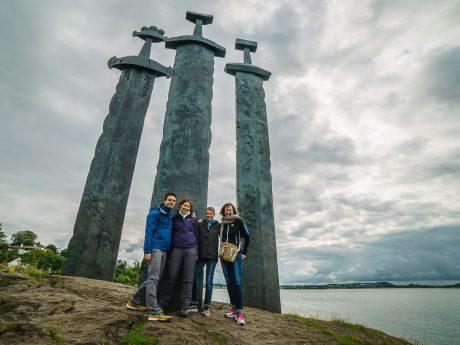 Gruppenbild nach Drehschluss in Norwegen (v.l.n.r. Oliver Scholz, Tabea Scholz, Adriana Bosch, Dr. Nadja Thiel). Foto: Oliver Scholz