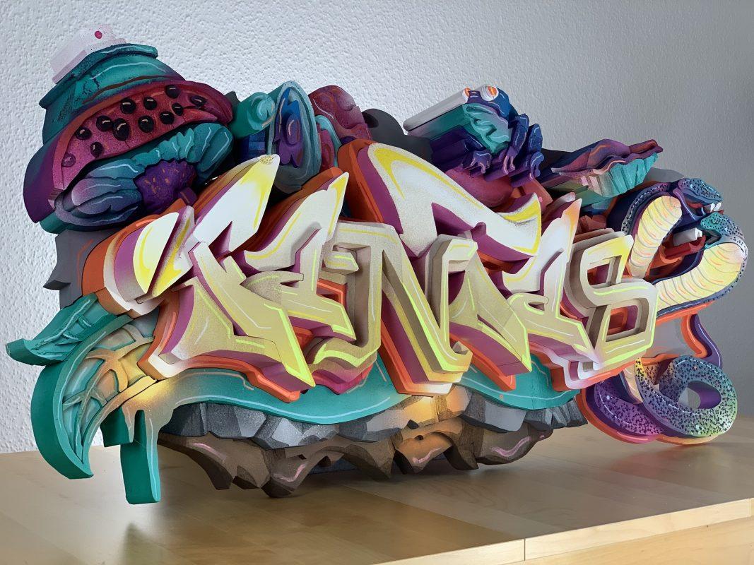 Graffiti in 3D von Marco Holzinger. Foto: Marco Holzinger