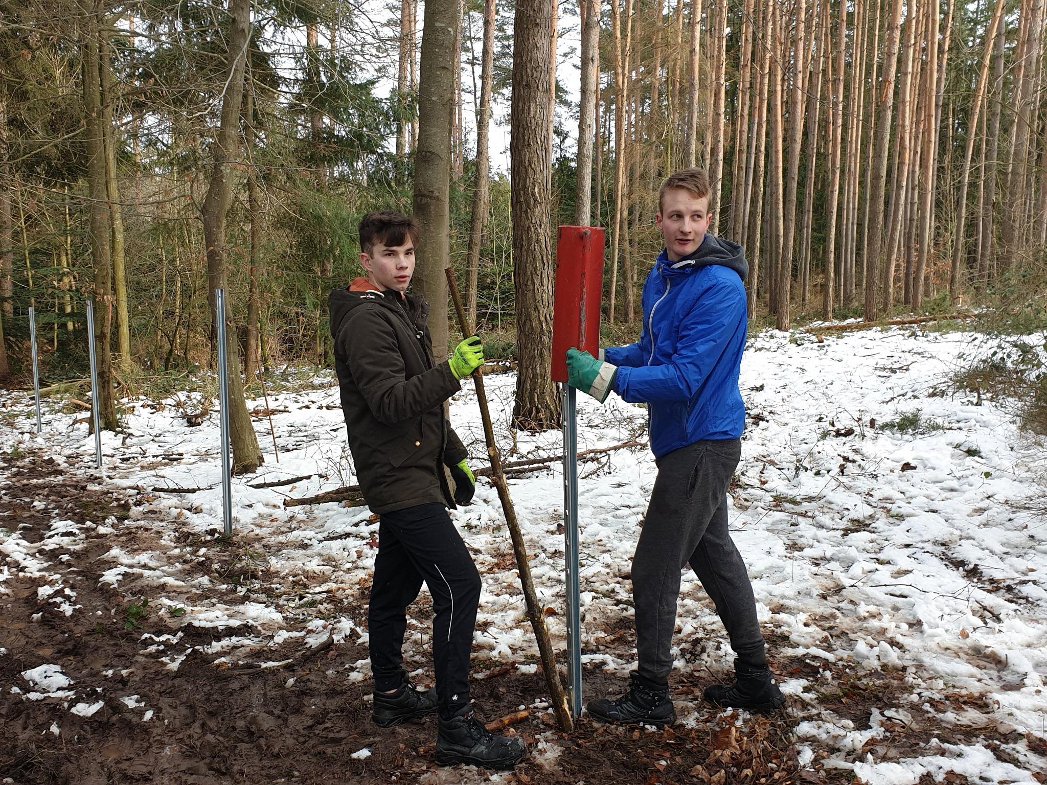 Ehrenamtliche Helfer beim Baumpflanzprojekt. Foto: Stefan Klingner