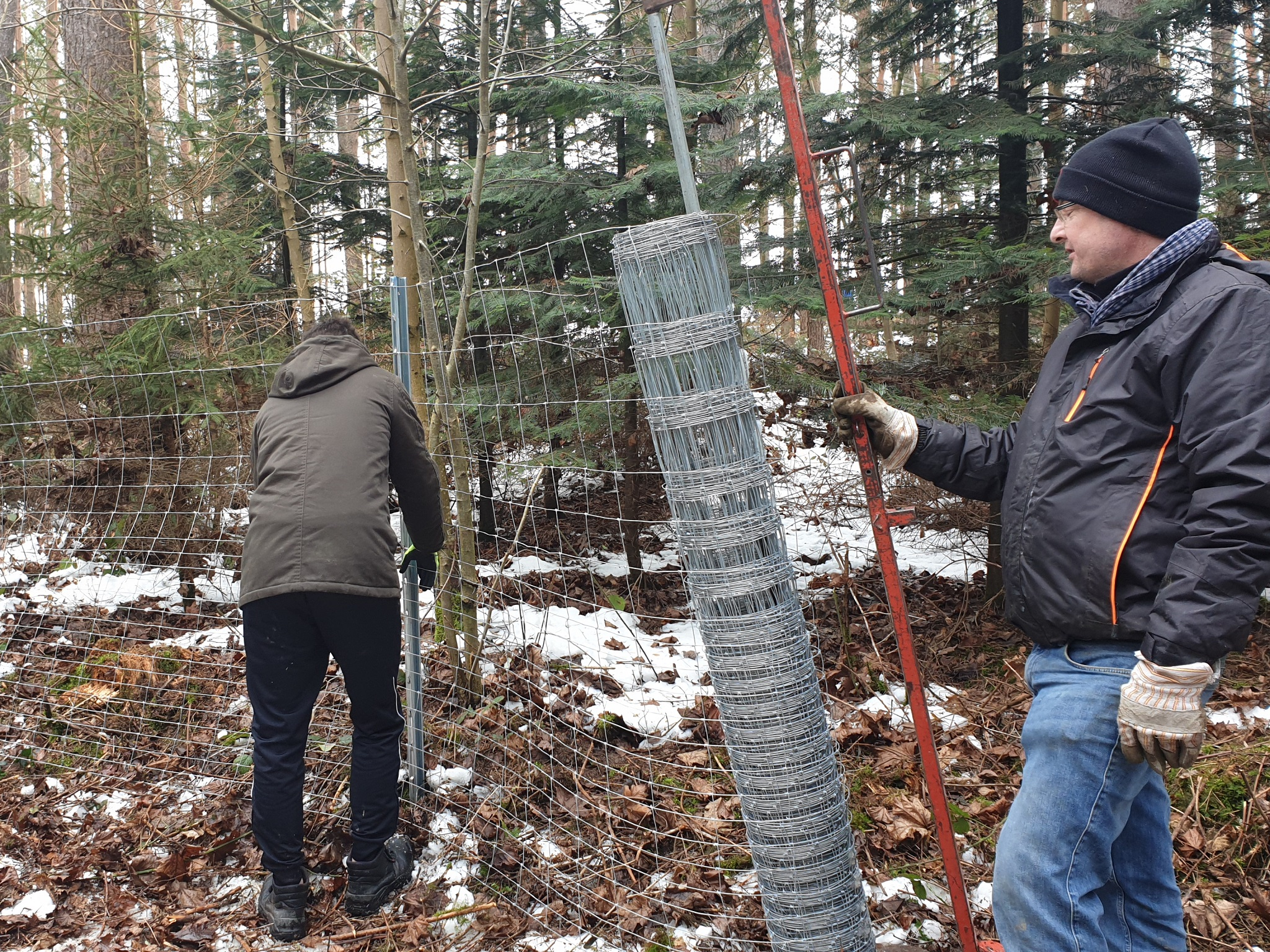 Trotz Kälte und Schnee helfen 15 ehrenamtliche Helfer mit. Foto: Stefan Klingner