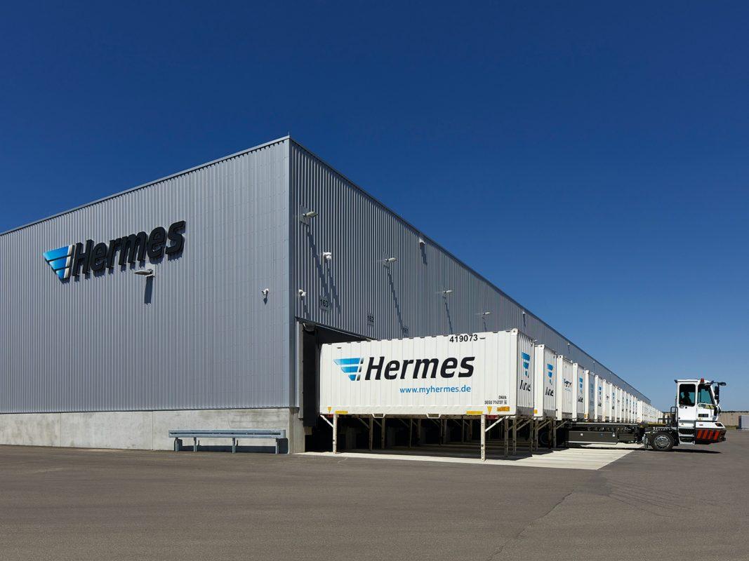 Das neue Hermes Logistikzentrum in Ansbach. Foto: ECE/Jochen Stüber