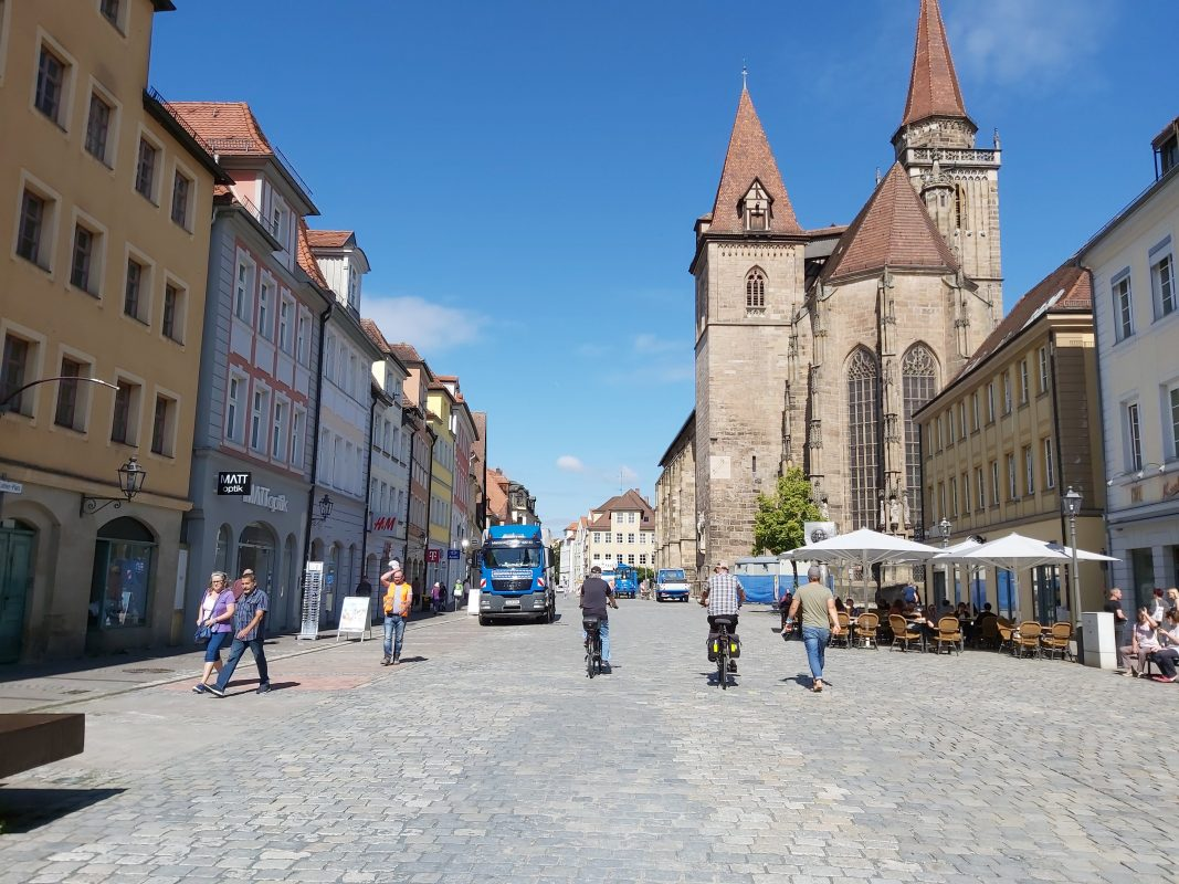 Ansbacher Innenstadt im Sommer. Foto: Bettina Bocskai