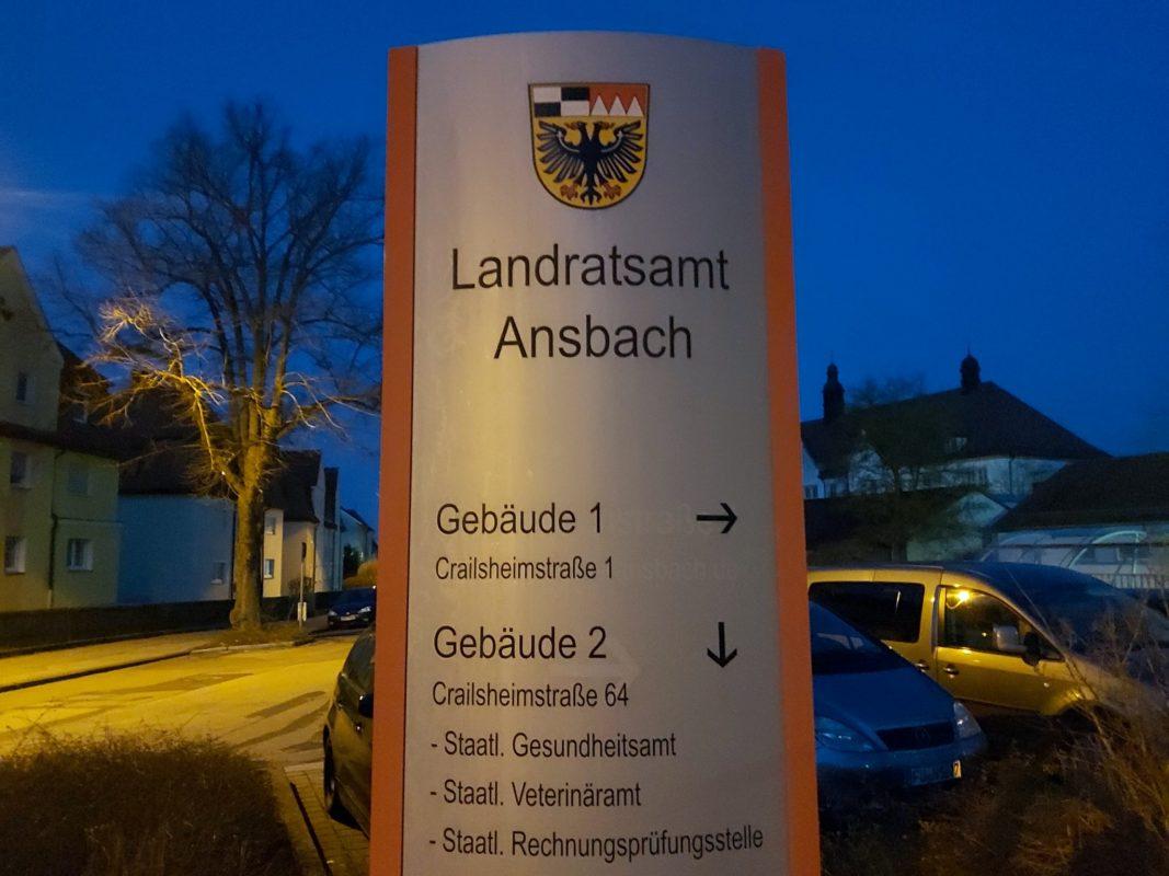 Landratsamt Ansbach. Foto: Bettina Bocskai