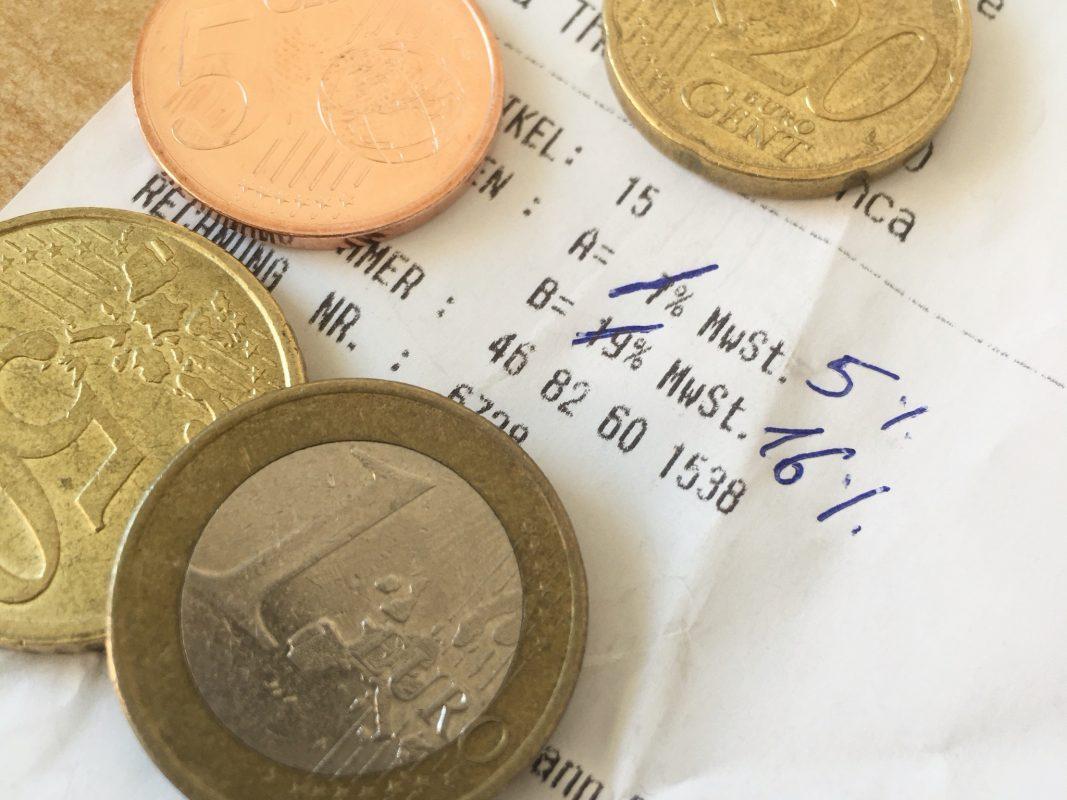Die Mehrwertsteuer wird gesenkt. Bild: Lilli Müller