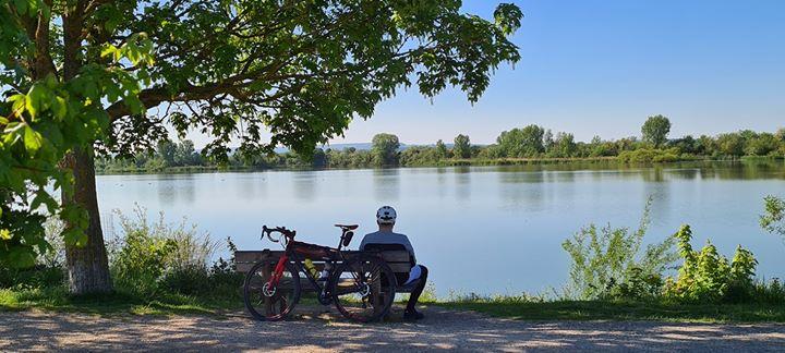 Mit dem Fahrrad zum Altmühlsee für eine kleine Abkühlung. Foto: Tobias Seidel