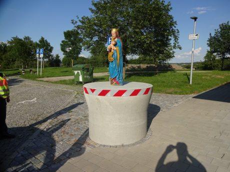 Die aufgefundene Marien-Statue. Foto: Polizei