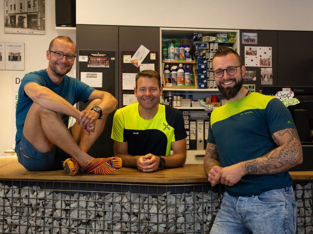 Die Bergsportler Thomas Ehrmann und Andreas Schmidt eröffneten Mountain-Sports im Juni 2020. Foto: Mountain-Sports
