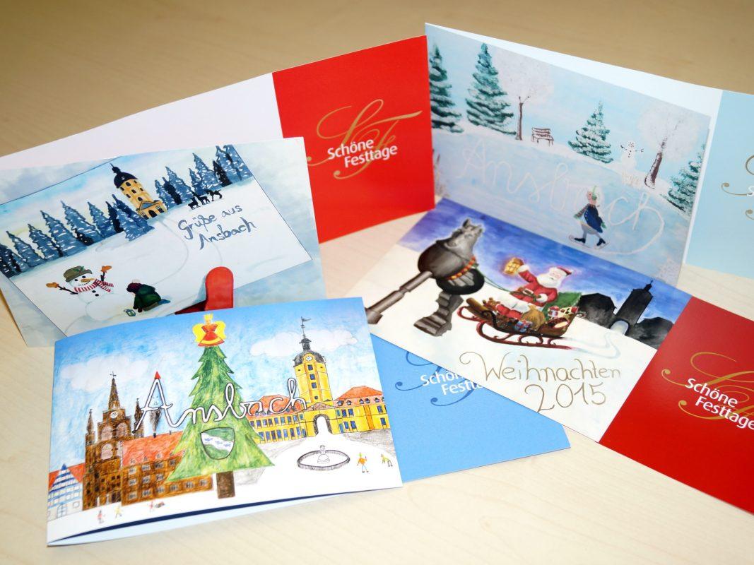 Weihnachtliche Motive aus den letzten Jahren. Foto: Stadt Ansbach