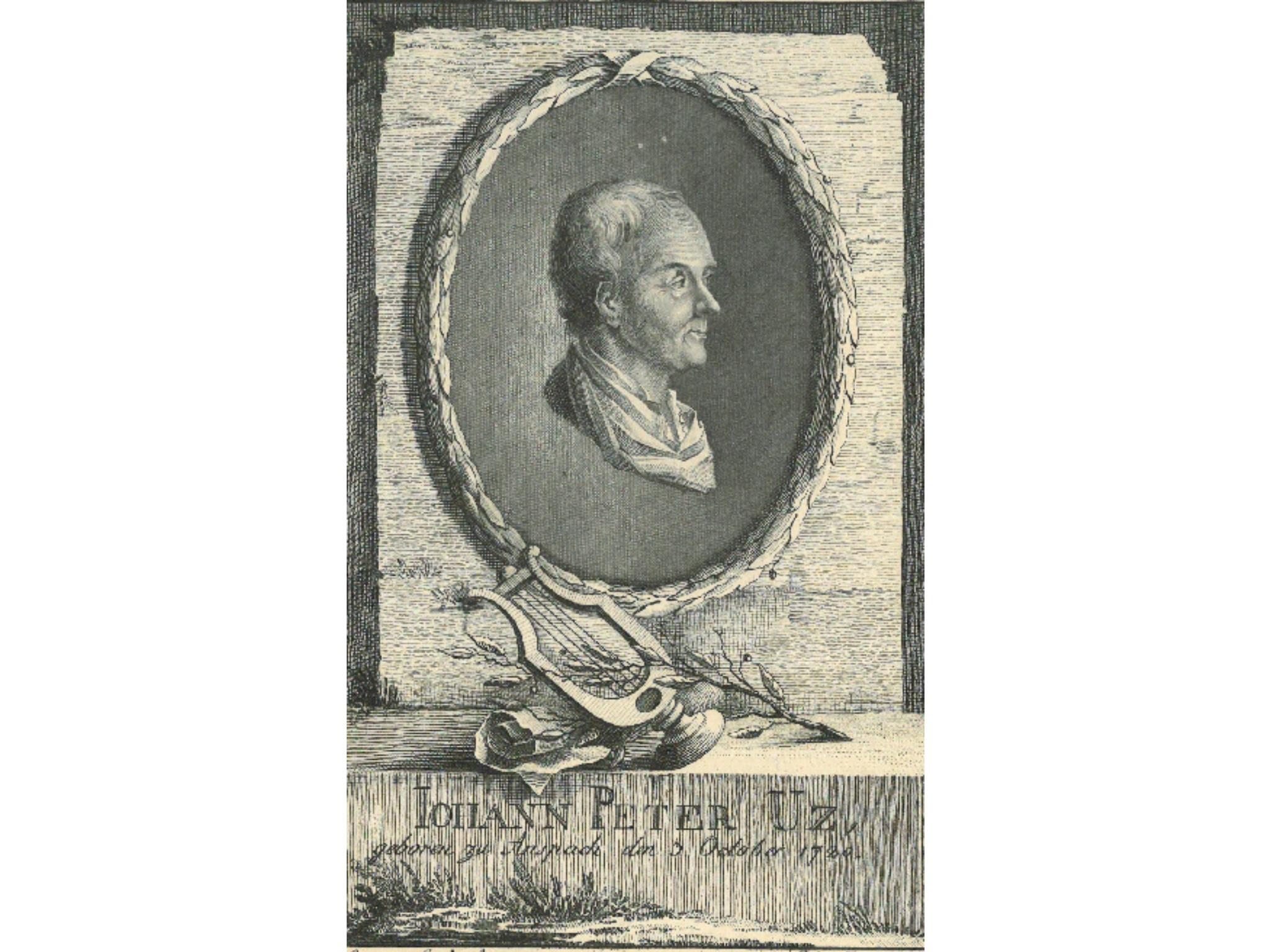 Der Dichter Johann Peter Uz. Foto: Stadtarchiv Ansbach