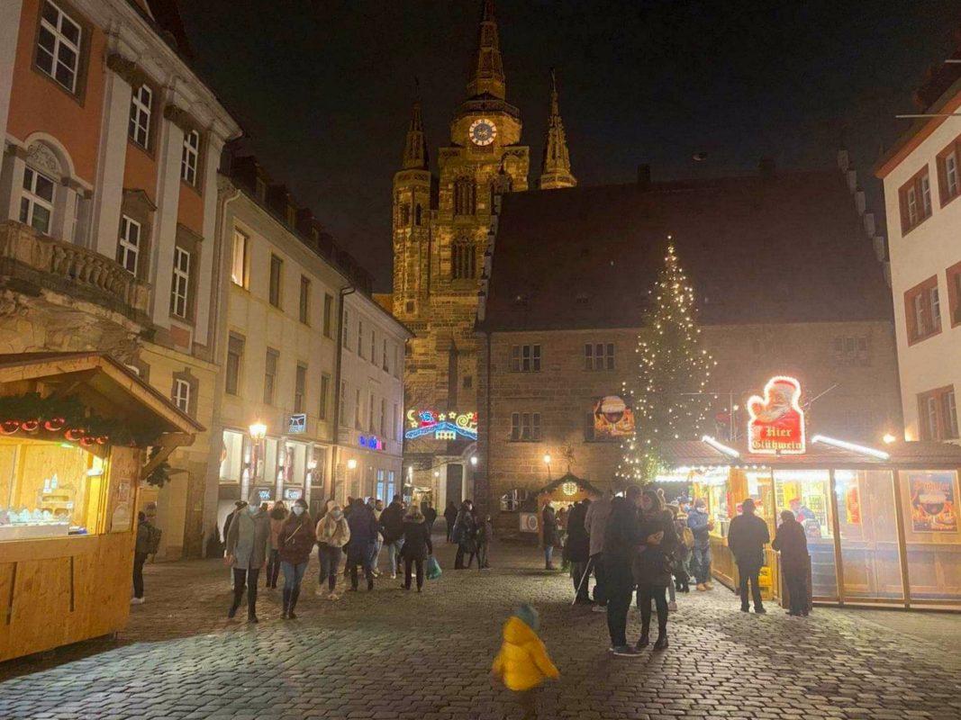 Die Altstadt-Weihnacht 2020 in Ansbach. Foto: Stefanie Unbehauen