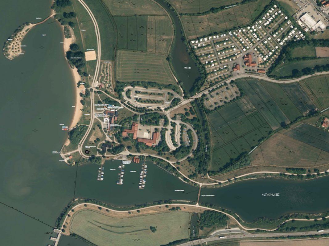 Am Altmühlsee soll ein Insel als Eventlocation entstehen. Foto: © tentickle.de und Zweckverband Altmühlsee.