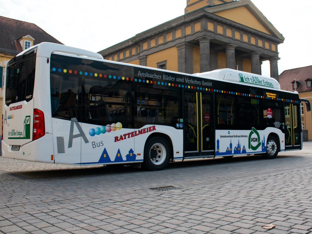 Am 24. und 31. Dezember fahren die Ansbacher Buslinien wie an Samstagen. Foto: Stadtwerke Ansbach