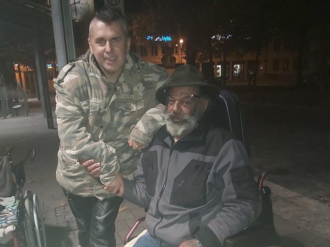 Engagiert sich seit Jahren für Obdachlose, Sammy West. Foto: Laura Preger