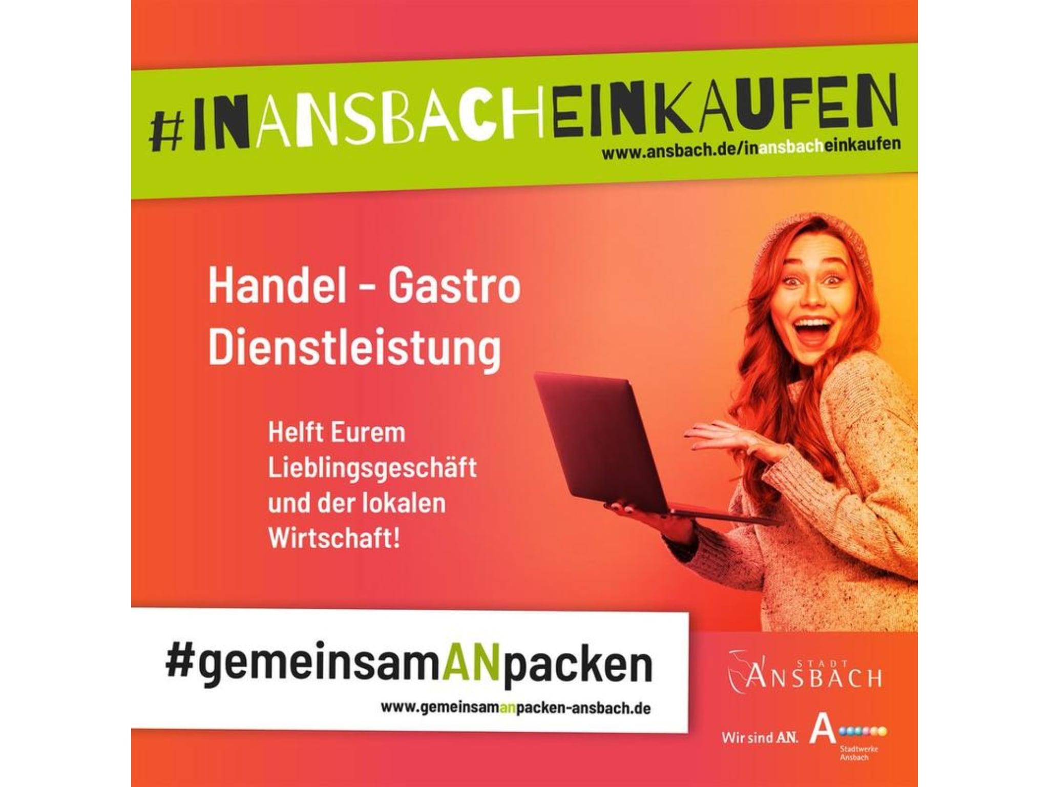 Das Onlineportal #inAnsbacheinkaufen. Grafik: Stadt Ansbach