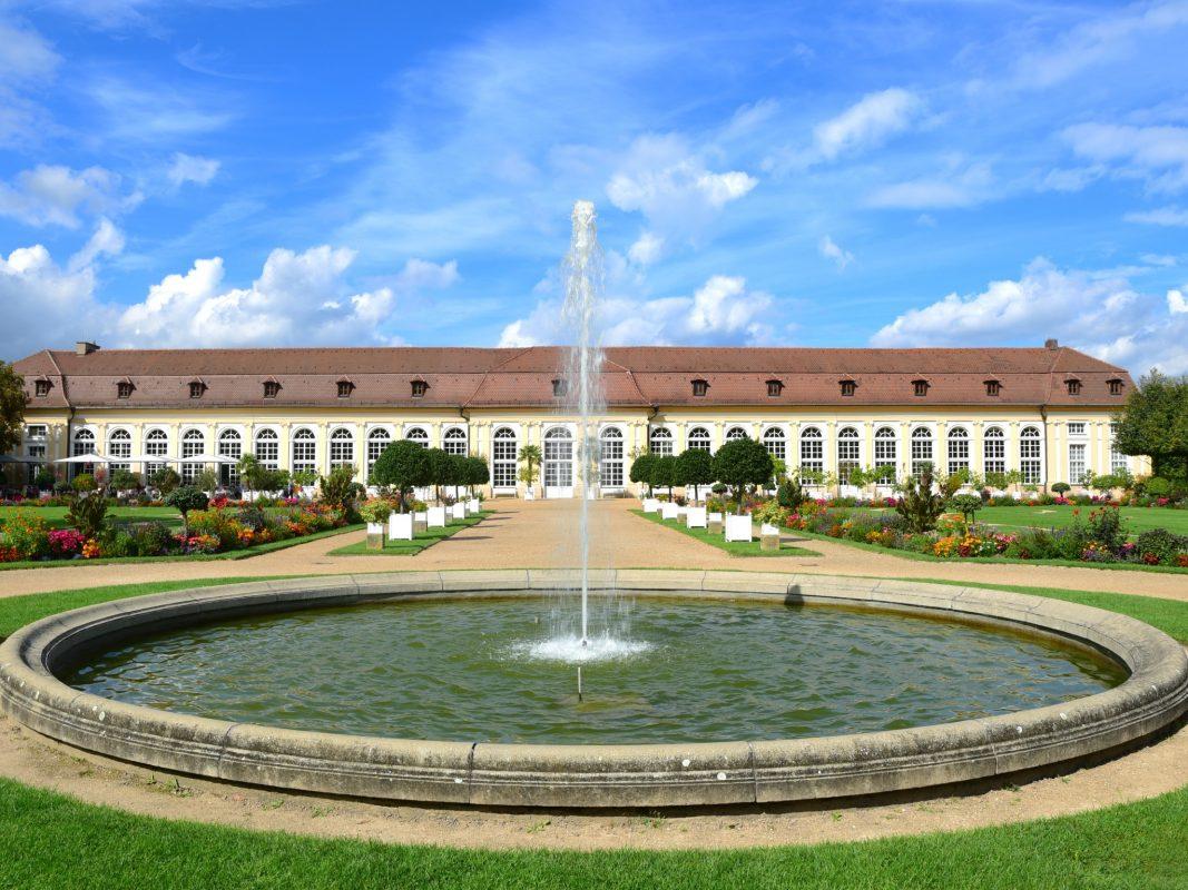 Die Orangerie im Hofgarten Ansbach. Foto: Bayerisches Staatsministerium für Wissenschaft und Kunst