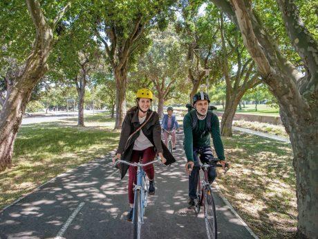 Mit dem Rad zur Arbeit. Foto: ADFC/AOK