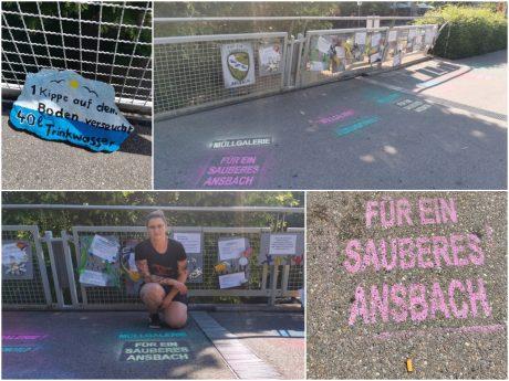 Für ein sauberes Ansbach: Liza hat in Ansbach eine Müllgalerie auf die Beine gestellt. Fotos: Liza Zwanziger
