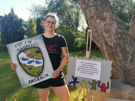 Liza Zwanziger ist Initiatorin der Kunstaktion und engagiert sich auch sonst für Ansbachs Umwelt. Foto: Liza Zwanziger