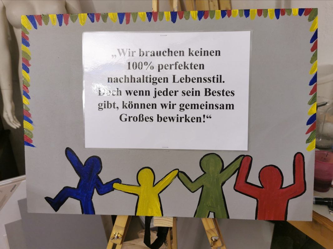 Plakat der Kunstausstellung. Foto: Liza Zwanziger