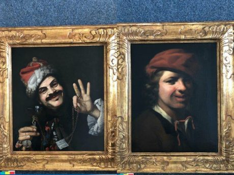 Gemälde der Künstlers Pietro Bellotti (links) und Samuel van Hoogstraten (rechts). Foto: Polizei