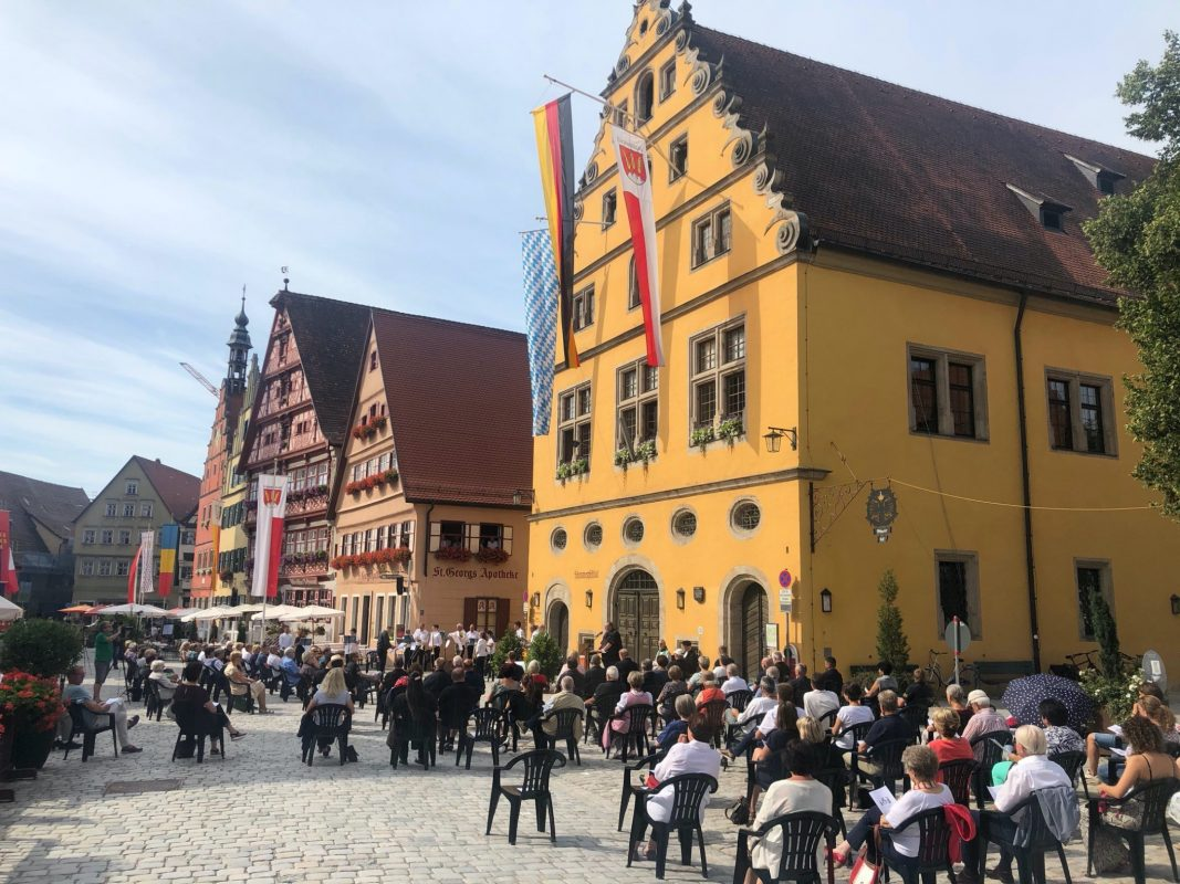 Wie 2020 wird es auch heuer einen Ökumenischen Gottesdienst auf dem Weinmarkt geben. Foto: Philip Schürlein