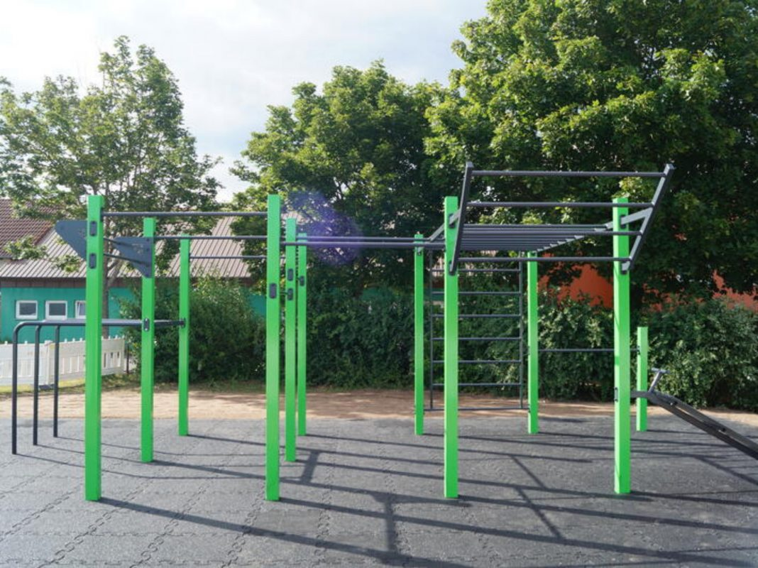 Die neue Calisthenics-Anlage in Ansbach. Foto: Stadt Ansbach
