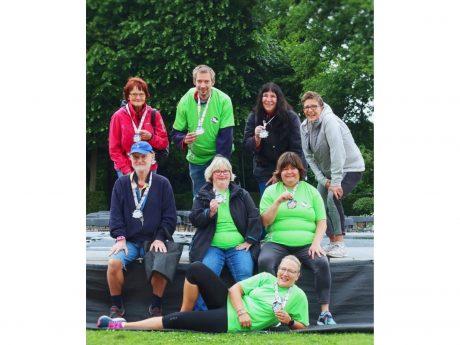 Der District-91 Fitnessverein e.V. beendete zusammen mit ARON eine erfolgreiche Schrittchallenge. Foto: District-91 Fitnessverein e.V. Ansbach