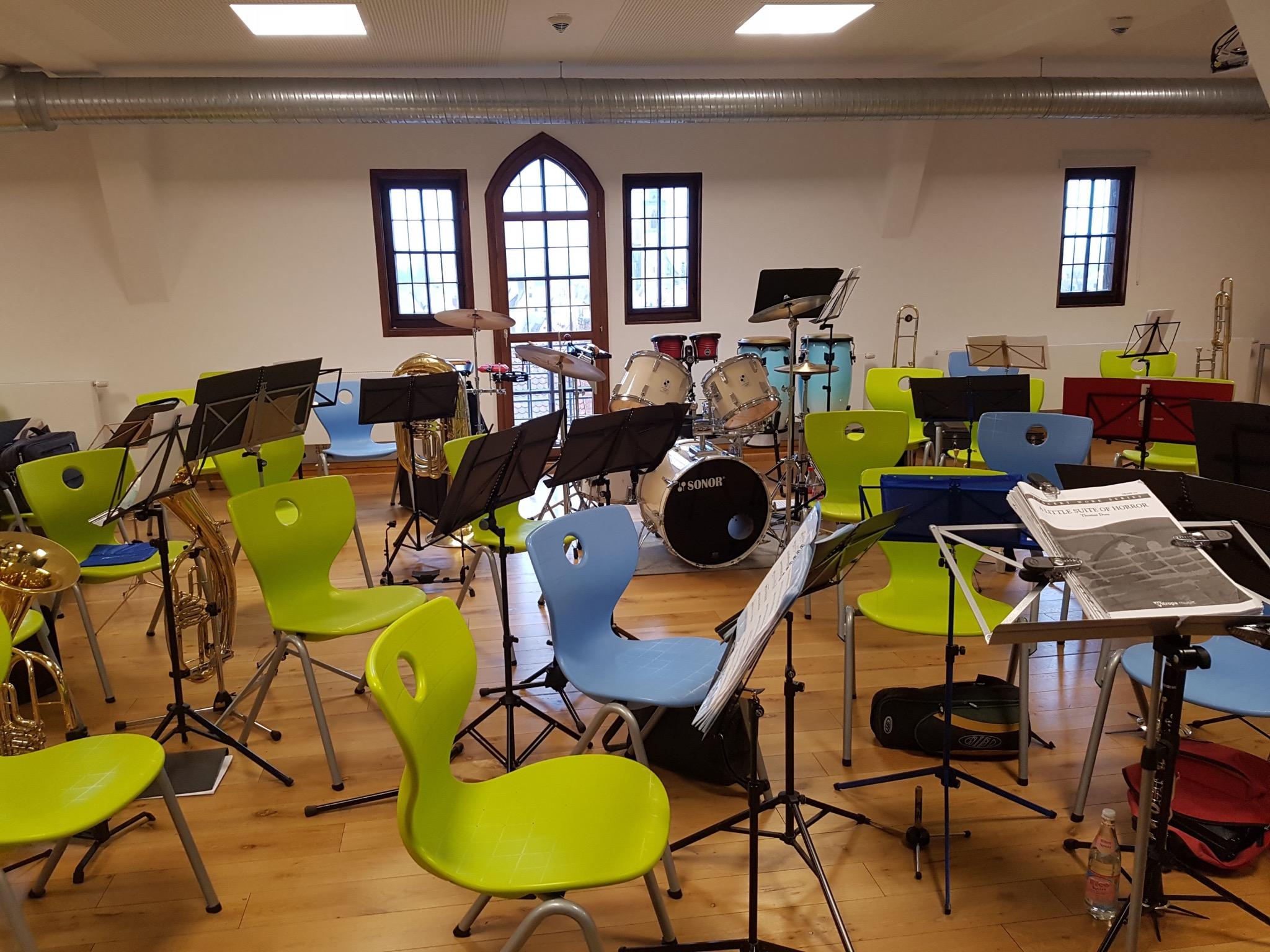 Der Musikprobenraum in der Dinkelsbühler Jugendherberge. Foto: Susen Liekfeldt