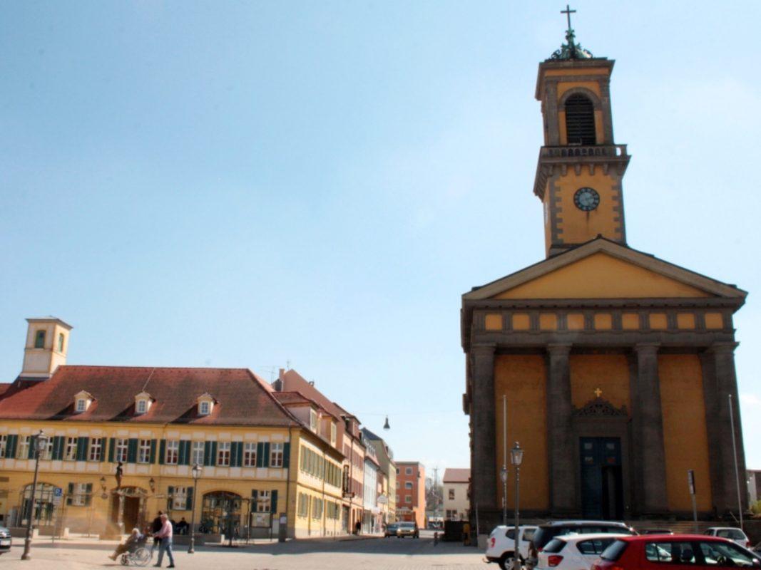 Karlsplatz in Ansbach. Foto: Franziska Roos