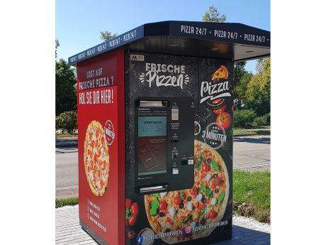 Der neue Pizza-Automat in Ansbach. Foto: Marvin Wägner